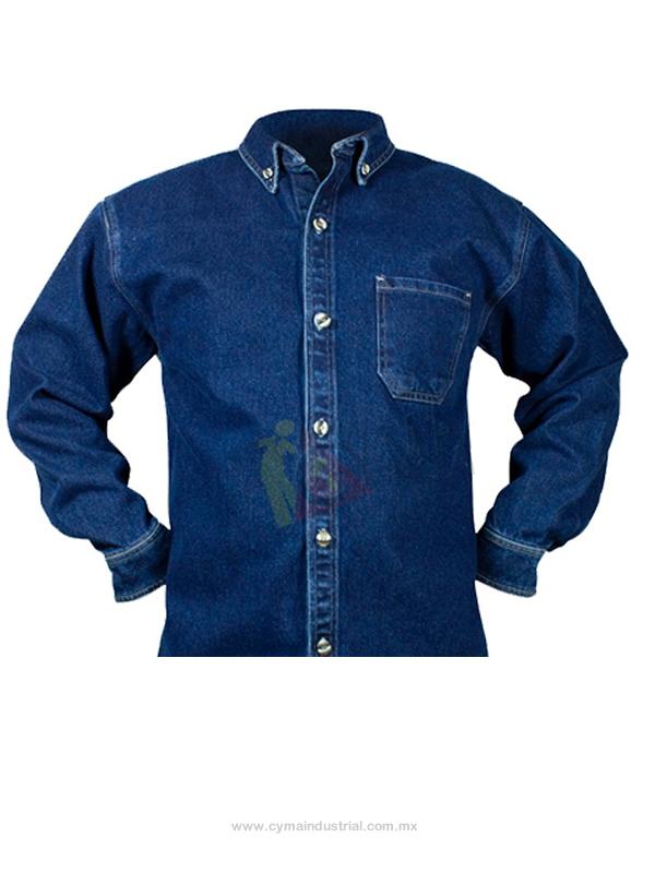 camisa en jean CORPORATIVA institucional